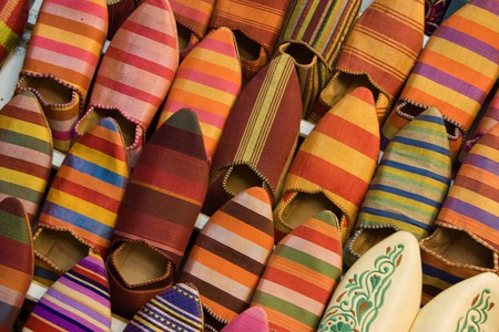 """<a href = """"https://www.flickr.com/photos/thedadys/10875615753/""""> Traditional Moroccan babouches   © Martin and Kathy Dady/Flickr"""