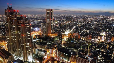 Nighttime view from the Tokyo Metropolitan Government Buildings | © Manish Prabhune / Flickr