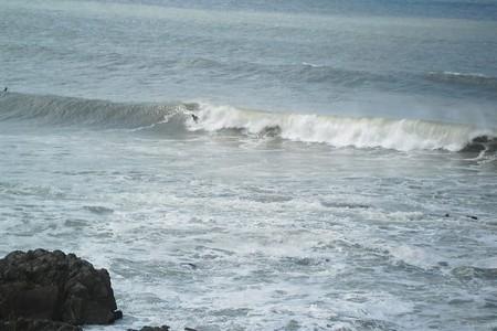 Surfing in La Pedrera, Uruguay