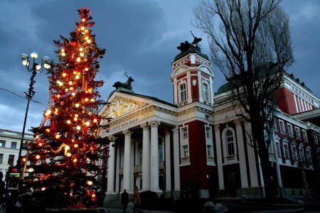 Christmas tree in Sofia, Bulgaria | © Vassil Tzvetanov/Flickr