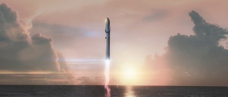 A rendering of SpaceX's BFR   © SpaceX
