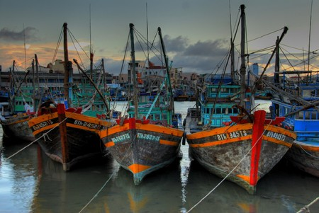 Vietnamese fishing fleet | © Lucas Jans/Flickr