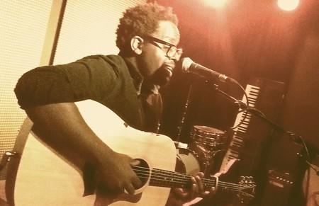 Daudi Matsiko at Bar Bobu open mic | Courtesy of Bar Bobu