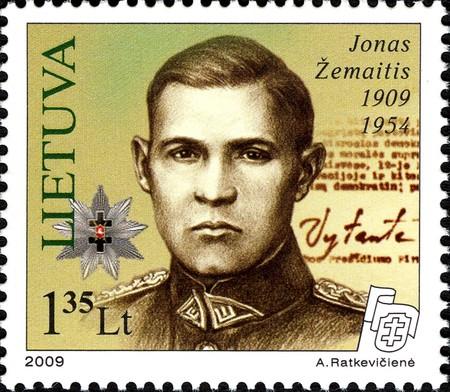 Jonas Zemaitis-Vytautas stamp   © Wikimedia