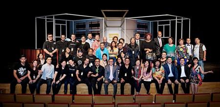 Members of the Doci Papiaçam di Macau theatre group who perform plays in Patuá to help preserve the endangered language | Courtesy of Doci Papiaçam di Macau.