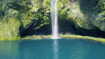 The forbidden waterfall attracts thousands of visitors