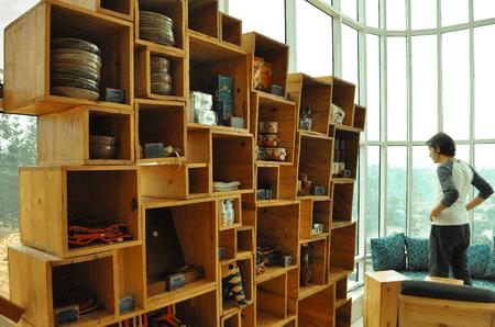 Souvenir collection at Inzora Rooftop Cafe