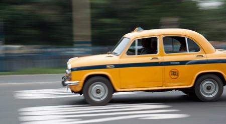 Yellow taxi in Kolkata