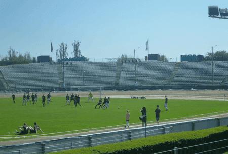 Watch football in a Speedway Stadium