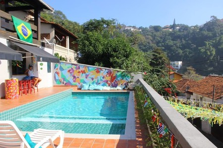 The pool at Santa Terê Hostel