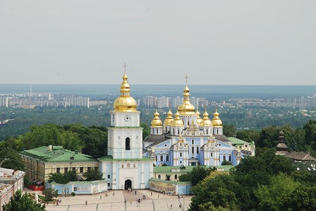 """<a href=""""https://commons.wikimedia.org/wiki/File:Kiev_stmichael_May_2010.JPG"""">St. Michael's Golden-Domed Cathedral