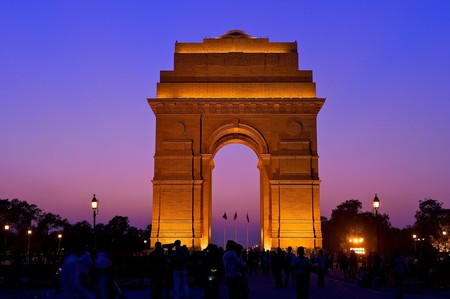 India Gate at night | © Larry Johnson / Flickr