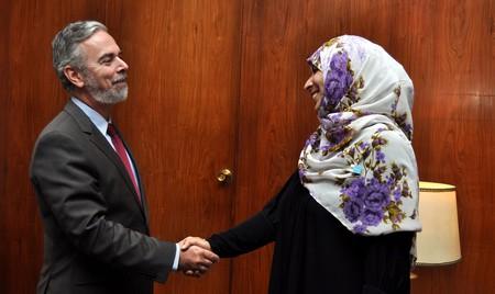 Tawwakol Karman, co-recipient of the 2011 Nobel Peace Prize | © Ministério das Relações Exteriores/Flickr