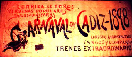 Poster announcing the Carnival of Cádiz of 1898 | WikiCommons