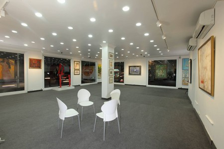 Interior view of the Focus Art Gallery, Chennai