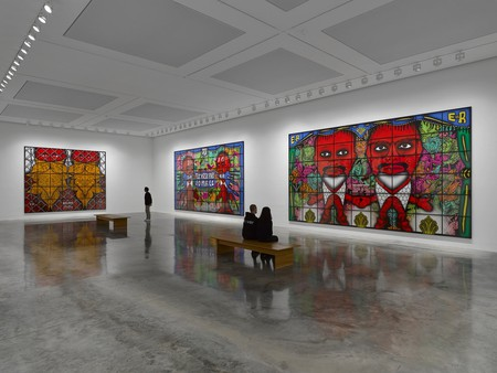 Gilbert & George, 'The Beard Pictures and Their Fuckosophy' at White Cube Bermondsey, 2017   Courtesy of Galerie d'Art Kaïs