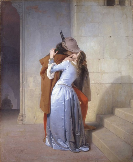 Francesco Hayez, 'The Kiss' (1859) at Pinacoteca di Brera, Milan
