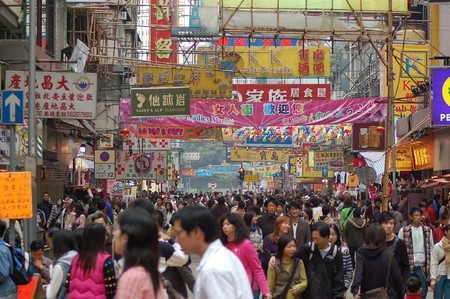 Mong Kok, Hong Kong, is the most densely populate place on the planet | © Hamedog / Wiki Commons
