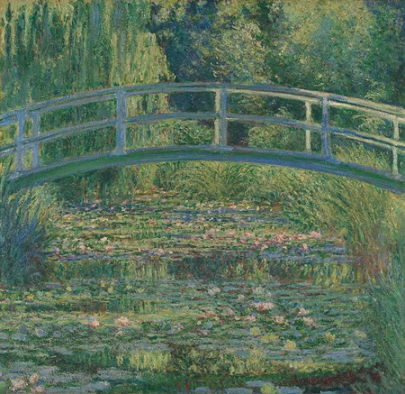 Claude Monet, 1840 - 1926 'The Water-Lily Pond' 1899 Oil on canvas, 88.3 x 93.1 cm Bought, 1927