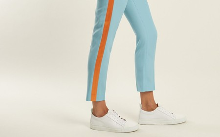 Racil, Aries side-stripe skinny wool cropped trousers | © Matches Fashion