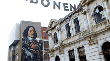 Mural of Jan van Riebeeck in Maboneng | © Adamina/Flickr