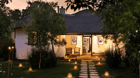 Satyagraha House's exterior is reminiscent of traditional African architecture | Courtesy of Satyagraha House
