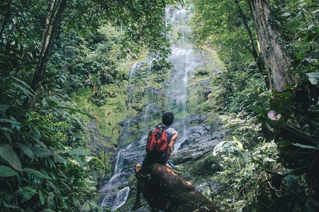 Waterfall gazing in Thailand