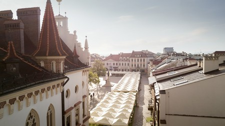 Aerial panorama of town square in Rzeszow, Poland | © mikolajn / Flickr