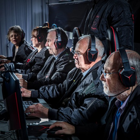 The Silver Snipers in training   Courtesy Lenovo