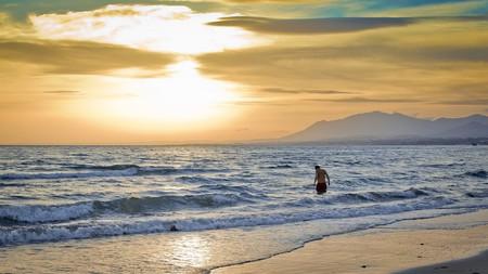 Sunset on a Marbella beach; Hernán Piñera/flickr