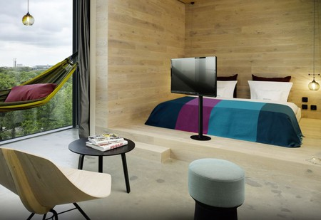 Some rooms at 25hours Hotel Bikini Berlin come complete with a hammock