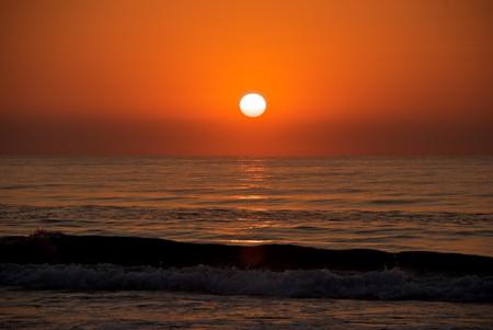 Sunset over the sea, Valencia