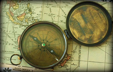 Map and Compass   © Calsidvrose / Flickr
