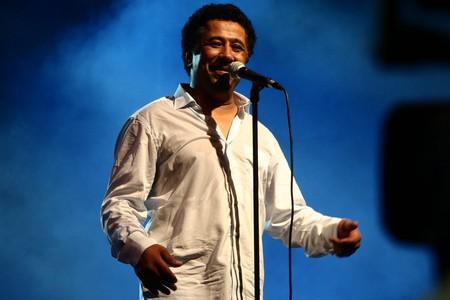 The famous Algerian singer Khaled