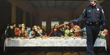 Joe Wolf's 'The Last Supper, Pepper-Sprayed' | © Joe Wolf/Flickr
