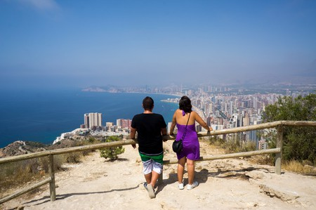 View over Benidorm from La Cruz.