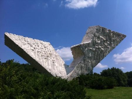 The Interrupted Flight monument in Kragujevac