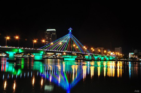 Danang's colorful bridges