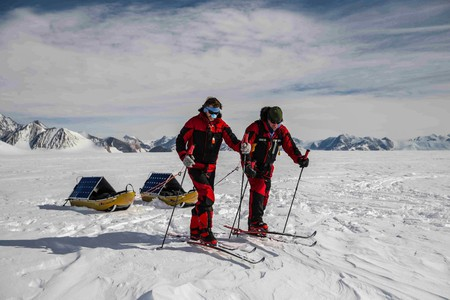 Father and son duo Robert and Barney Swan embarked on an epic world-first expedition to the South Pole using only renewable energy