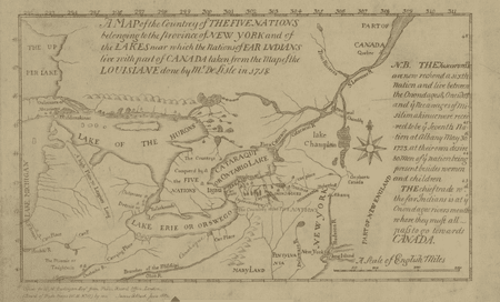 A map of the Five Nations | © Darlington Collection / WikiCommons
