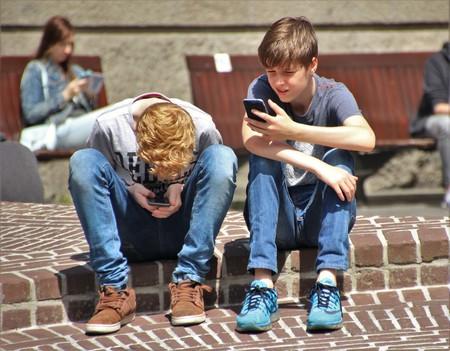 Boys on phone