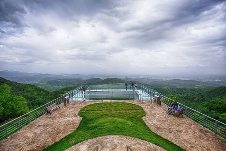 The viewpoint from Sataplia Nature Reserve