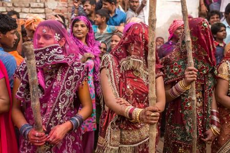 Lath Mar Holi is a Hindu festival celebrated in Mathura, India | © Alexander Mazurkevich/Shutterstock
