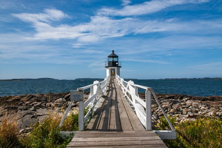 Port Clyde Lighthouse in Maine featured in Forrest Gump   © Paul VanDerWerf/Flickr