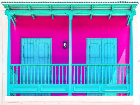 Teal & Fuchsia in Old San Juan | © Ian D. Keating / Flickr
