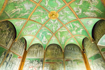 An exquisite decorative ceiling inside Castello Sforzesco | © Gimas/Shutterstock