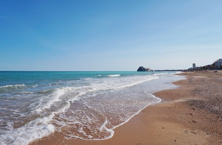 Peniscola beach, Spain.