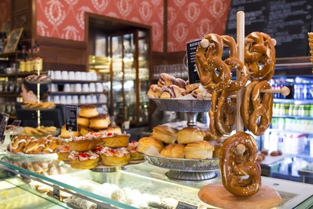 Pastries and pretzels for breakfast? Why not?