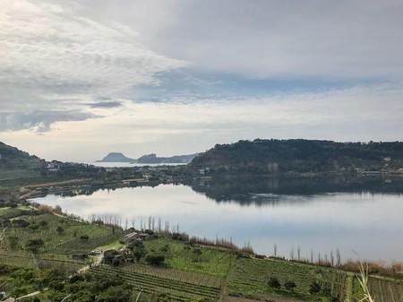 Lake Avernus in the heart of the Campi Flegrei