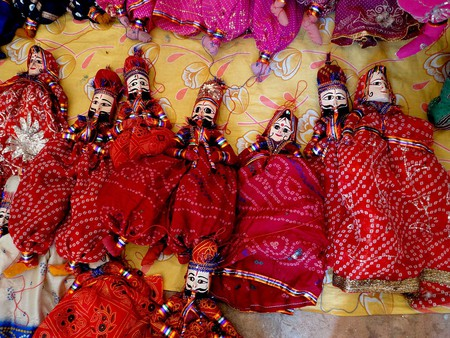 Colourful puppets in Rajasthan | © Karthikeya / Wikimedia Commons